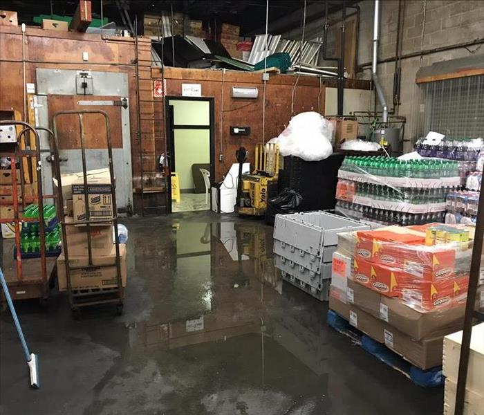 Supermarket Roof Leak