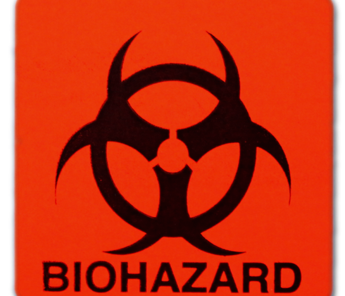 Biohazard and infectious materials sign